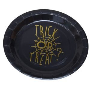 Buy Gold Foiled Halloween Plate