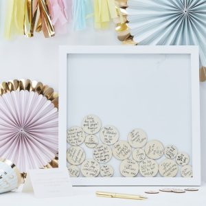 Drop Top Frame Guest Book Alternative