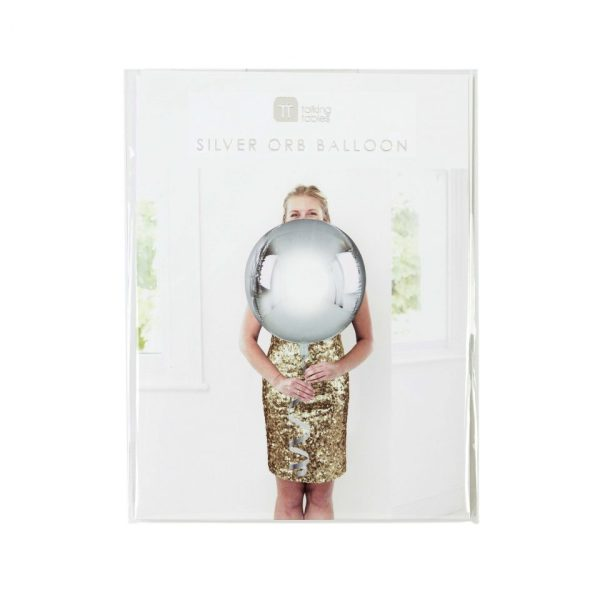Metallic Orb Balloon Silver