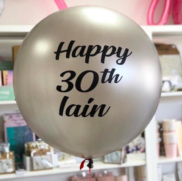 helium balloon silver bristol birthday balloon