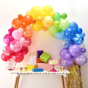 Rainbow balloon Arch