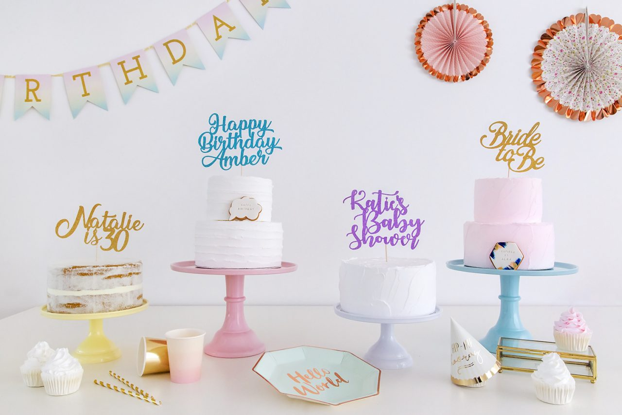 Amazing Custom Cake Topper Create Your Own Text Party Decoration Funny Birthday Cards Online Fluifree Goldxyz