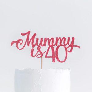 Cake Topper Mum Birthday