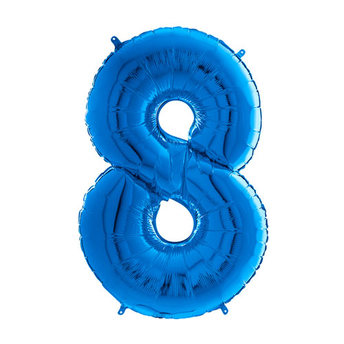 blue number balloon