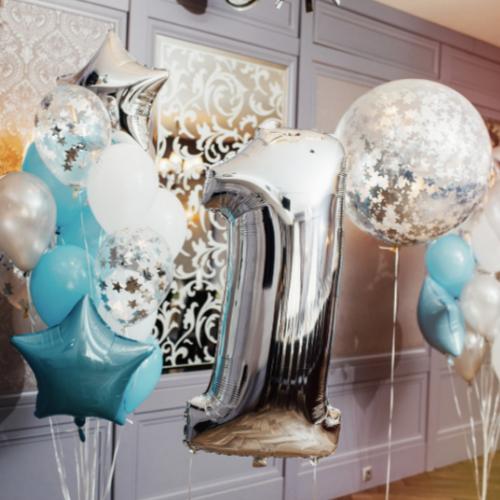 Birthday Balloons Helium Balloons Bristol Clifton Foil shapes Balloon Bouquet Delivery Bath Cardiff Balloon Bunch Helium Party decorations ideas first birthday party