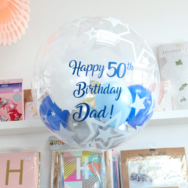 Personalised Bubble Balloon Star