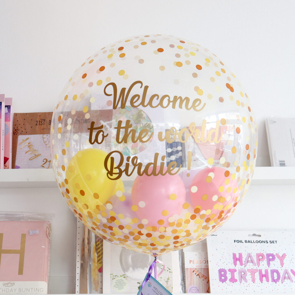Stars Balloons Inside Clear Pattern Balloon 24 inch Bubble Balloon Inflated.Surprise.Personalised Text.Party Decorations. Balloon in a Box Helium Balloon Personalised any text