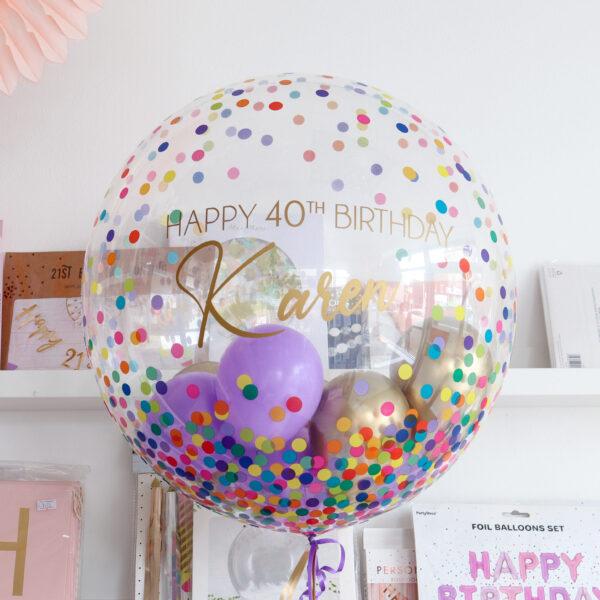 Bubble Balloon Multicolour Confetti