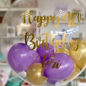 Personalised bubble balloon helium balloon bristol