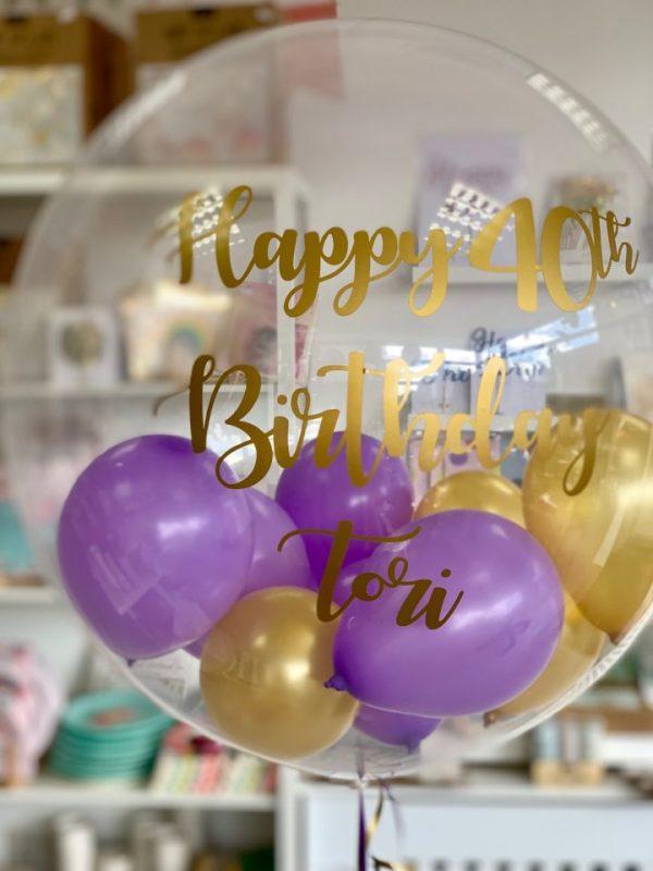 Personalised bubble balloon helium balloon bristol