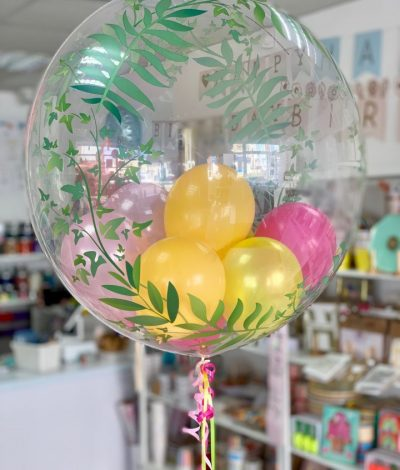 Tropical birthday balloon balloon filled bubble balloon