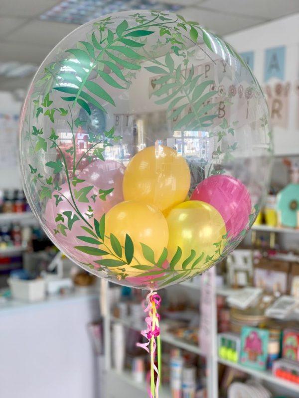 Tropical birthday balloon balloon filled bubble balloon