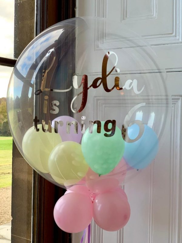 Clear Personalised Helium Balloon