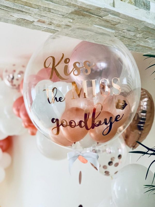 Clear Personalised Helium Balloon hen do party engagement gift decorations