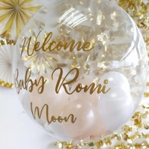 Baby Shower Bubble Balloon Clear