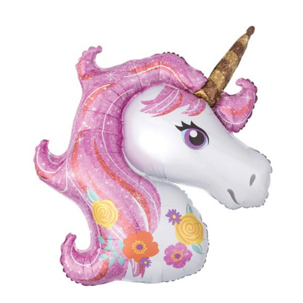 Giant Magical Unicorn Helium Balloon Best party shop in Bristol