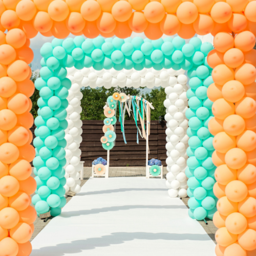 balloon arches wedding arch balloon decorations balloon installation Bristol Helium balloons Party shop Garden decorations Birthday party best shop bristol for balloons