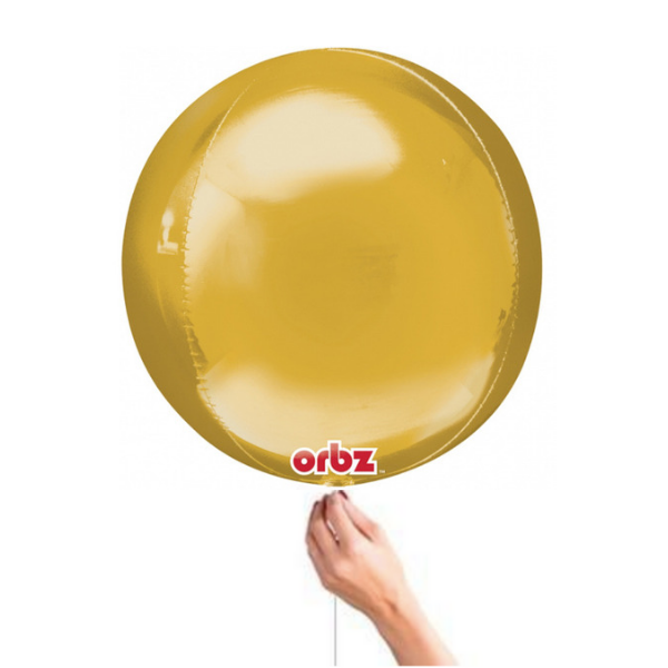Gold Orbz Balloon Best Helium Balloons in Bristol party shop Clifton buy party decorations for your birhtday wedding or corporate event