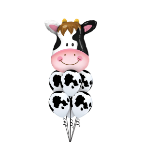 Farm party ideas Bristol First birthday party cow balloon