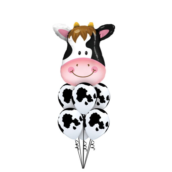 Farm party ideas Bristol First birthday party cow balloon