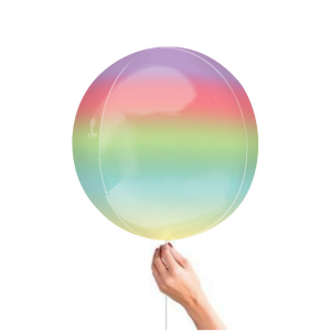 Rainbow Ombre Orbz Balloon Buy helium balloons in Bristol Best helium balloons and party decorations for birthday party Clifton