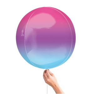 Ombre Purple Blue Orbz Balloon Best Helium Balloons for weddings and birthdays in Bristol party shop Clifton buy party decorations for your birhtday wedding or corporate event