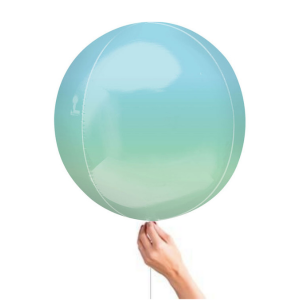 Blue Ombre Orbz Balloon Best Helium Balloons for weddings and birthdays in Bristol party shop Clifton buy party decorations for your birhtday wedding or corporate event