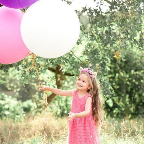 Giant latex balloons white pink birthday girl Bristol Balloons Helium Clifton