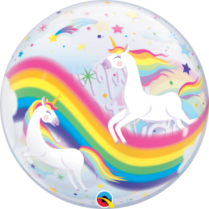 unicorn balloon helium inflated. Buy bubble balloon online. Bristol party decorations