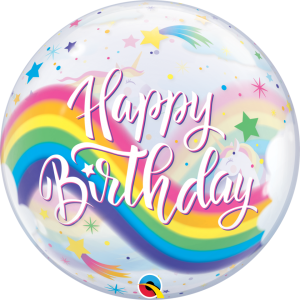 Buy happy birthday unicorn bubble balloon. Unicorn party balloons. Birthday girl party in Bristol