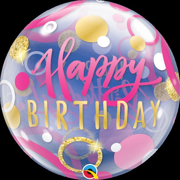Pink helium balloon for birthday girl. Best balloon decorations in Bristol