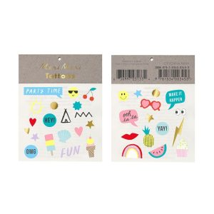 Buy Assorted Jazzy Temporary Tattoos for Goodybags. Birthday gifit, birthday favours. Bristol Shop