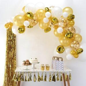 Gold Balloon Arch Kit. Best party decorations for weddings in Bristol