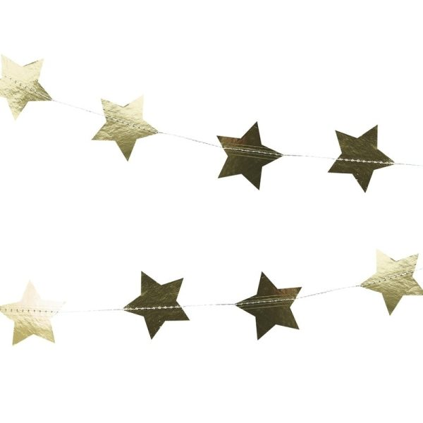Gold Star Garland Decoration. Party supplies in Bristol. Clifton party shop