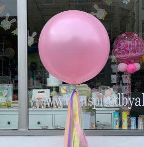 Pink giant balloon. helium latex balloon Bristol