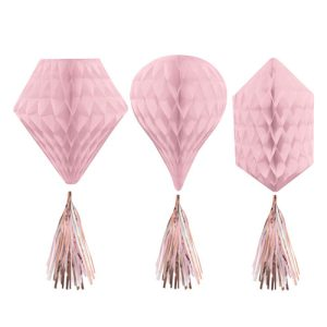 Buy Rose gold blush hanging honeycomb decorations in Bristol UK. Best honeycomb decorations for weddings and birthdyas