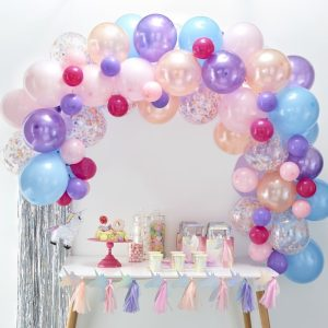 buy pastel balloon arch diy kit. Best party decorations ideas for unicorn party.
