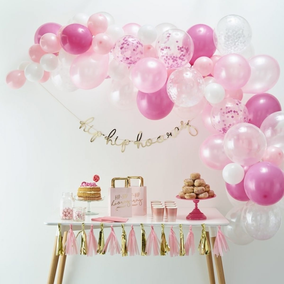 Pink Balloon Arch Kit Diy Pink Balloon Garland Kit Inspired By Alma