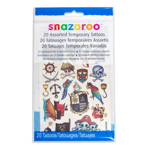 Buy Pirate Themed Temporary Tattoos in Bristol Best party decorations and helium balloons.