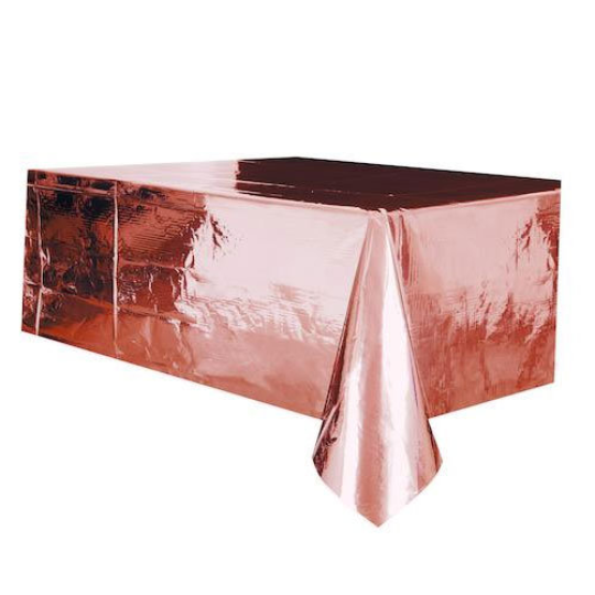 Rose gold tablecloth metallic. Party tableware for birthday, wedding and baby shower in Bristol