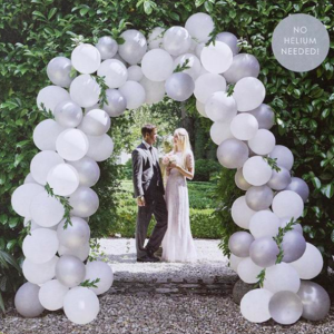 White Balloon Arch Kit for weddings. Best balloon arch for wedding. Buy party decor in Bristol