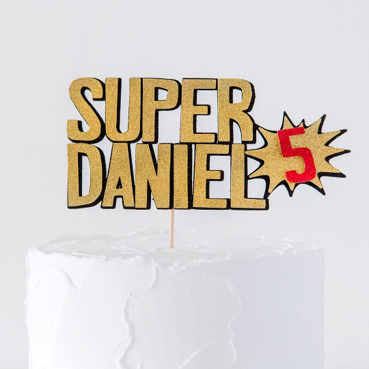 Strange Superhero Birthday Cake Topper Party Shop Bristol Inspired By Alma Funny Birthday Cards Online Necthendildamsfinfo
