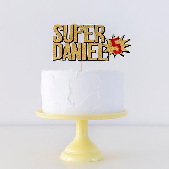 Cake for a superhero party