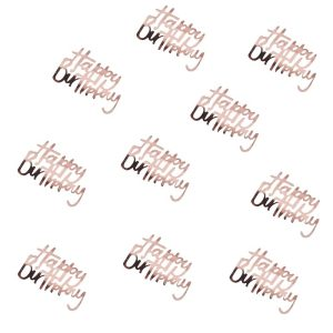 Buy rose gold party decorations for birthday parties. Bristol party supplies