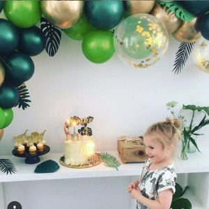 Buy Tropical Balloon Arch DIY kit. Best party shop in Bristol. Balloon Garland do it yourself. Animal party.