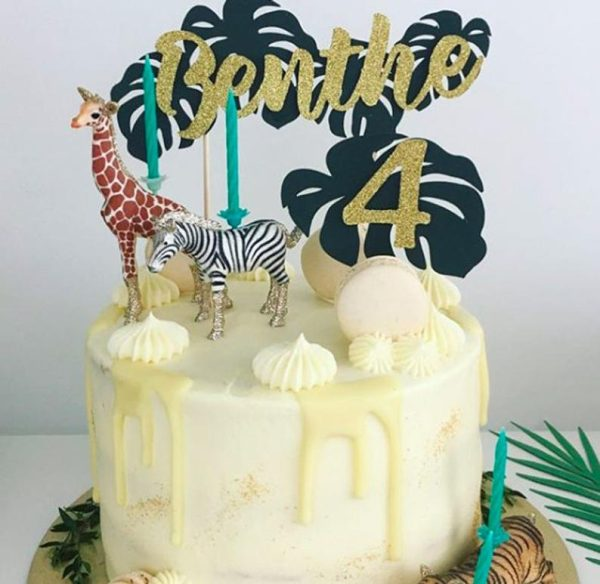 Buy Tropical Cake Topper. Best party decorations for animal party theme.