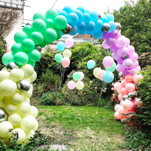 Pastel colours balloon arch Bristol.