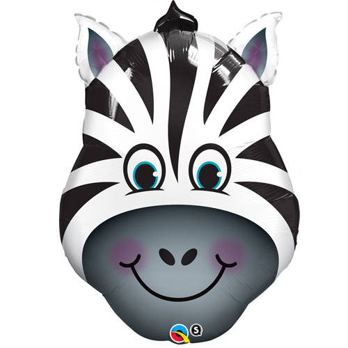Giant Zebra Helium Balloon bristol party deco animal party birthday