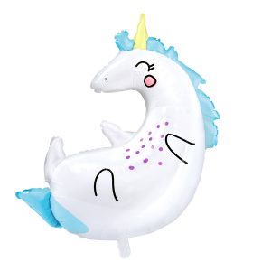 Giant Baby Unicorn Helium Balloon bristol clifton online delivery party decorations wedding birthday christening baby reveal baby shower