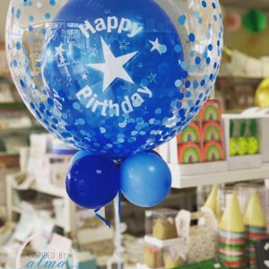 Bubble Balloon Latex Filled standard long lasting customised cake topper helium party boxes cannon shooters candles